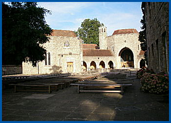 The Friars, Aylesford looking across the piazza